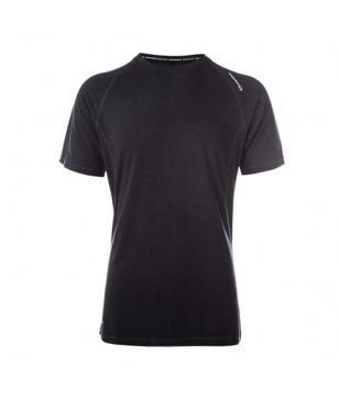 T-Shirt Technique laine Bamboo Endurance Marro Noir Hommes