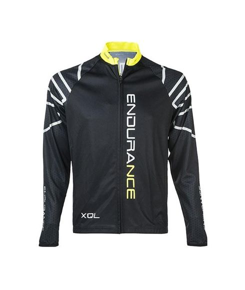 Pull Longues Manches Vélo Endurance Wicko Noir Hommes