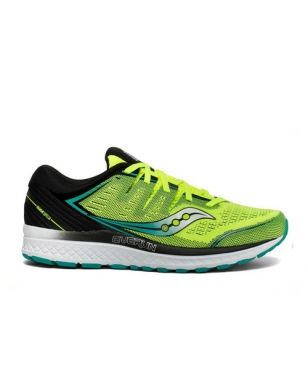 Chaussures Running Saucony Guide Iso2 Jaune Hommes