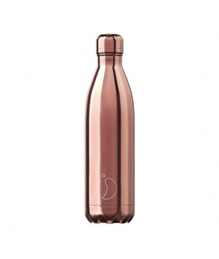 Chilly's Isotherm Trinkflasche Chrome 0.75L Gold Rosa Unisex