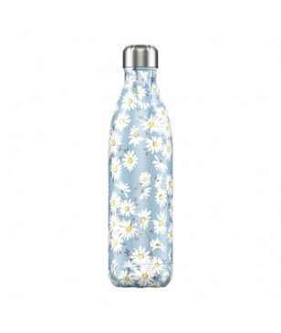 Chilly's Isotherm Trinkflasche Floral Daisy 0.75L Blau Unisex