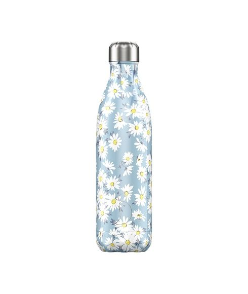 Gourde Isotherme Chilly's Floral Daisy 0.75L Bleu Mixtes