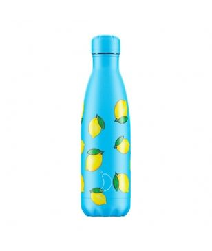 Chilly's Isotherm Trinkflasche New Icons Lemon 0.5L Blau Unisex