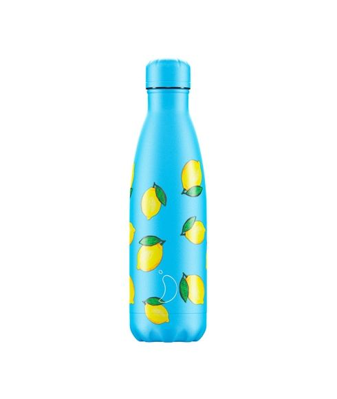 Gourde Isotherme Chilly's New Icons Lemon 0.5L Bleu Mixtes