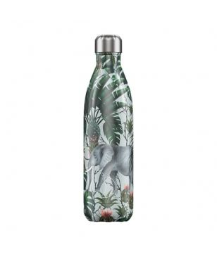 Chilly's Isotherm Trinkflasche Tropical Elephant 0.75L Blau Unisex
