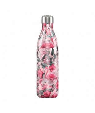 Chilly's Isotherm Trinkflasche Tropical Flamingo 0.75L Rosa Unisex