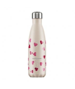 Gourde Isotherme Chilly's Emma Bridgewater Pink Hearts 0.5L Rose Mixtes