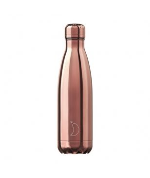 Chilly's Isotherm Trinkflasche Chrome 0.5L Gold Rosa Unisex