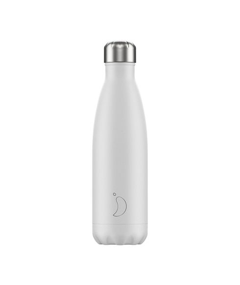 Gourde Isotherme Chilly's Monochrome 0.5L Blanc Mixtes