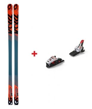 Skis Piste Völkl Racetiger Junior Speedwall GS (U16) Avec Fixations Rouge Enfants