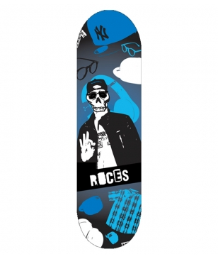 Skateboards Roces Skull Boy Bleu Mixtes