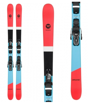 Skis Freestyle Rossignol Sprayer Avec Fixations Rouge Mixtes