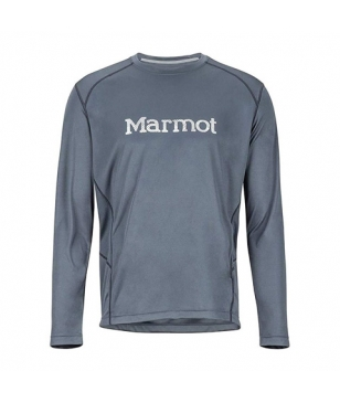 T-Shirt Manches Longues Marmot Windridge with Graphic Gris Hommes