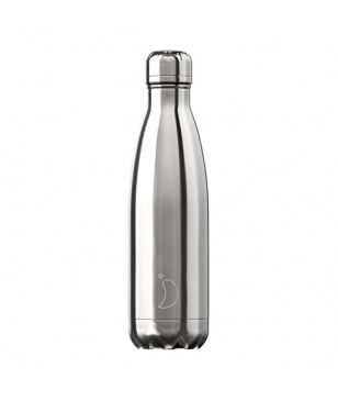 Chilly's Isotherm Trinkflasche Chrome 0.5L Silver Unisex