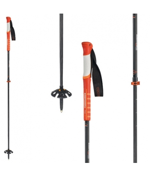 Bâtons Télescopiques Komperdell Carbon Ultralight C2 Orange Mixtes