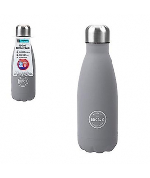 B&CO Isotherm Trinkflasche Rubber 0.35L Grau Unisex