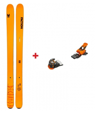 Skis Freeride Faction Dictator 3.0 Avec Tyrolia Attack 13 Orange Mixtes