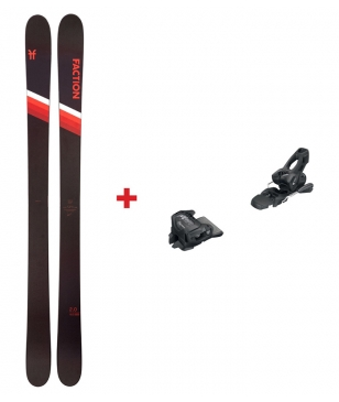 Skis Freeride Faction Candide 2.0 Avec Tyrolia Attack 11 Noir Mixtes