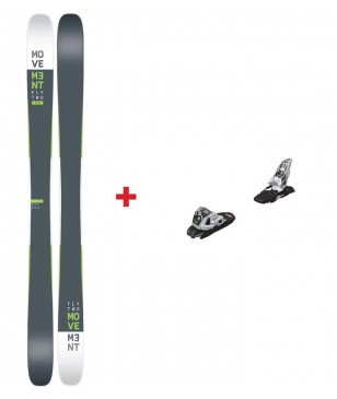 Skis Piste Movement Fly Two 95 RT Avec Fixations Noir Mixtes
