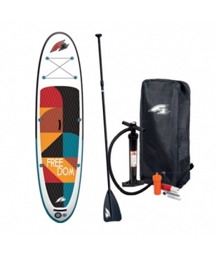 "Stand Up Paddle orange ""Freedom Sundown"" avec pagaie, pompe et sac de rangement"