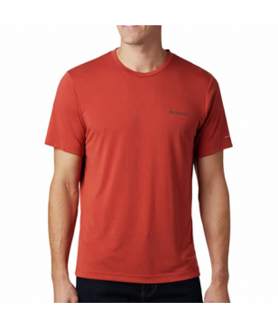 T-Shirt Columbia Maxtrail SS Logo Tee Rouge Hommes