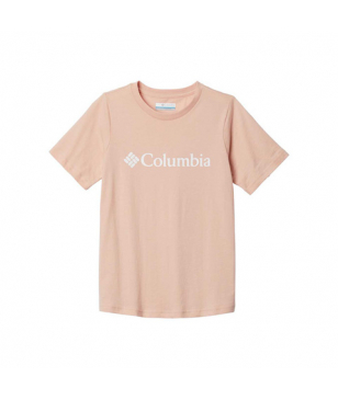 Columbia T-Shirt CSC Basic Logo Beige Kinder