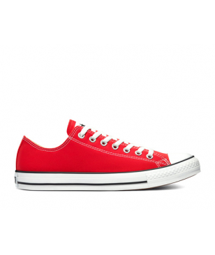 Chaussures Loisirs Converse Chuck Taylor All Star OX Rouge Mixtes