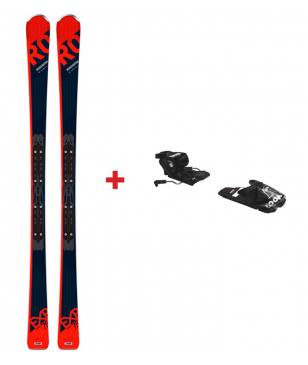 Skis Piste Rossignol Experience 75 Ca Avec Fixations Rouge Hommes