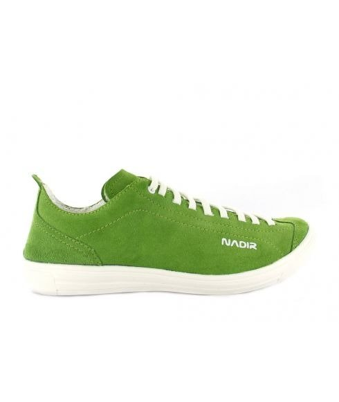 Pas cher Chaussures Loisirs Nadir Free Suede Lime Vert Femmes
