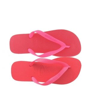 Pas cher Tongs Havaianas Top Neon Pink Rose Femmes